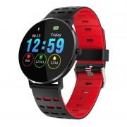 Microwear L6 normál méretű színes kijelzős okosóra pulzusmérővel - piros