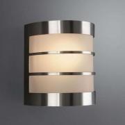 Low-maintenance wall lamp CALGARY stainless steel