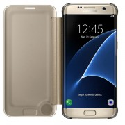 Husa Samsung clear view cover gold pt G935 Galaxy S7 Edge