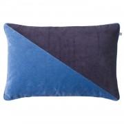 Chhatwal & Jonsson Pari Velvet Kuddfodral 40x60 cm, Riviera Blue/Navy