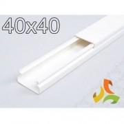HAGER Korytko kablowe 40x40 białe LF4004009010 2mb