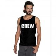 Bellatio Decorations Crew mouwloos shirt zwart voor heren 2XL - Feestshirts