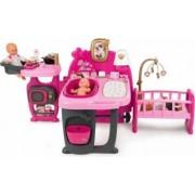 Centru de ingrijire pentru papusi Smoby Baby Nurse Doll`s Play Center cu 23 accesorii