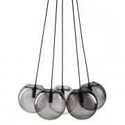 Maisons du monde Lámpara de techo con 5 bolas de cristal ahumado gris H. 19 cm ORBE