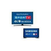 Smart TV 49 Samsung UN49MU6100 Ultra HD 4K + Smart TV 32 Samsung UN32J4300 HD