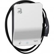 Schneider Electric, EVLink Smart Wallbox, EVB1A7PCRI, Elektromos autótöltő állomás fali 1x T2 - 7,4 kW, beépített kábellel, RFID kártya leolvasóval EVLink Smart Wallbox (Schneider EVB1A7PCRI)