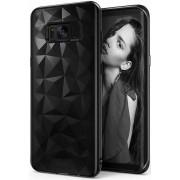 Protectie spate Senno Pure Flex Slim Diamond TPU pentru Samsung Galaxy S8 Plus (Negru)