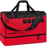 erima Sporttasche GRAFFIC 5-CUBES - mit Bodenfach - rot/schwarz | L