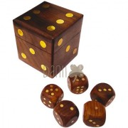 Danii Wooden Family Board Game - Dice Box Game