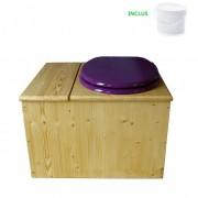 Toilette sèche - La Bac Violet prune huilée