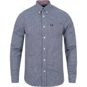 Fred Perry Classic Fit Gingham Shirt Medieval Blue