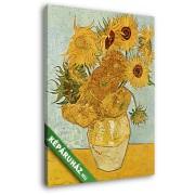 Vincent Van Gogh: Váza tizenkét napraforgóval (20x25 cm, Vászonkép )