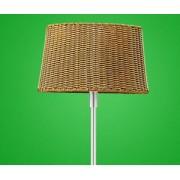 Kültéri álló lámpa E27 1x100W mag:171cm világosbarna fonott ernyővel 4m kábellel Levada 88083 Eglo