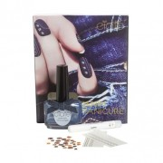 Ciaté - denim manicure kit confezione regalo 13.50 ml smalto unghie in regatta + 1 x grip glue + 30 x studs + 2 x water transfers