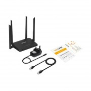 Wavlink WS-WN529R2P 300Mbps 4 Antenas 4x5dbi WIFI Routers Inalámbricos Repetidor Negro
