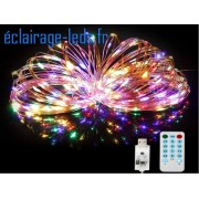 Guirlande LED musicale 20M multi-couleur 200 led USB. ref gl-08