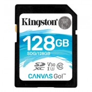 Kingston 128GB SDXC Canvas Go 90R/45W CL10 U3 V30