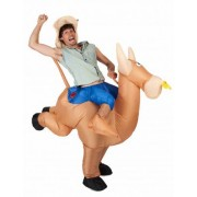 Disfraz de campeon de rodeo inflable adulto Única