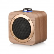 Q1B Wooden Wireless Bluetooth Speaker HD Deep Bass HiFi Stereo Sound Box Headset Music Box