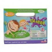 Glibbi Slime pudra pentru baie, 2 pack, verde