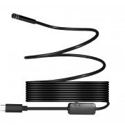 Louiwill 8 Mm 720 P Megapíxeles HD Inalámbrico 2in1 USB TYPE-C Endoscopio Endoscopio, Cámara De Serpiente De Inspección A Prueba De Agua Para Android / MacBook OS Con 8pcs LED De Brillo Ajustable, 3 M