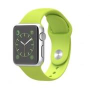 Apple Watch Sport 38Mm Cassa In Alluminio Argento Bracciale Green Smartwatch