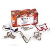 Puzzle Metalic Set 6 in 1 la cutie - Colectia Calatorului
