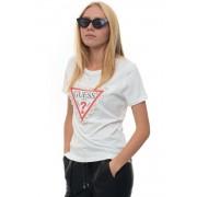 Guess T-shirt manica corta Bianco Cotone Donna