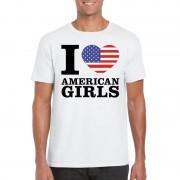 Shoppartners I love American girls t-shirt wit heren