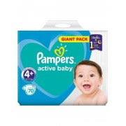 Pampers Active Baby 4+ Maxi+ Scutece 9-16 kg, 70 buc