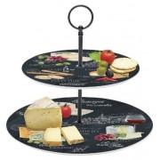 Plato para quesos 2 pisos - comprar menaje de cocina online