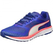 Puma Men'S Speed 500 Ignite True Blue Bright Plasma And White Running Shoes