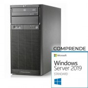 HP Proliant ML110 G6 tower - Xeon Quad Core X3430, 8 Gb Ram, 2x HDD 500 Gb S-ata, Raid Ctrl. Windows Server 2019 Standard