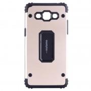 Capac de protectie Samsung Galaxy J7 (2016), Motomo Armor Hybrid, Gold