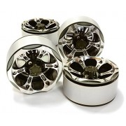 Integy Rc Hobby C26617 Gun 1.9 Size Billet Machined Alloy 6 X Spoke Wheel (4) High Mass Type For Scale Crawler
