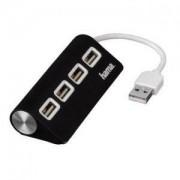 USB 4-портов хъб 2.0 HAMA, черен HAMA-12177