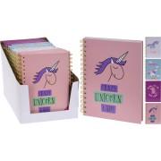 Unicorn notitieboekje A5 spiraal