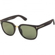 Arzonai Scout Square Black-Green UV Protection Sunglasses |Frame For Men & Women [MA-323-S1 ]