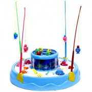 New Pinch Electric Rotating Magnetic Fishing Game with the Music Lights (Blue / Pink)