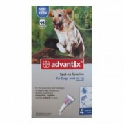 Advantix Spot On 400 For Extra Large Dogs 25 Kg or More 4 Doses