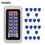 TIVDIO Keypad RFID Access Control System Proximity Card Standalone 2000 Users Door Access Control+20pcs RFID Cards F9501D