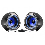 WOXTER Altavoces 2.0 WOXTER Big Bass 70 azul (PC y MP3 - 15 W - Control de volumen)