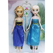 Disney Frozen Fashion Anna Elsa Sister Doll with Magical Wand Dolls Games Fun