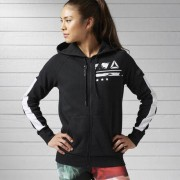 Женщины- Худи Workout Ready Cotton Series Graphic Full Zip