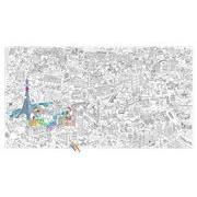 OMY Design & Play Poster à colorier XXL Paris / 180 x 100 cm - OMY Design & Play blanc,noir en papier