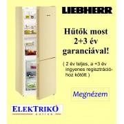 Liebherr CNbe 4313 alulfagyasztós hűtőszekrény , NoFrost, bézs ajtófront