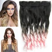 Clip in pás - lokny - ombre - odstín Black T Light Pink (odstín Black T Light Pink) - Světové Zboží