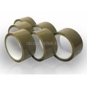 Ragasztószalag Havanna barna színű, 6 tekercs/fólia, 48mm x 50 méter/tekercs
