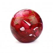 Kleine Glazen Bal Dierenurn Elan Marble Red (0.5 liter)