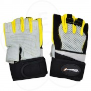 Fitnes rukavice Xplorer sivo-žute XL